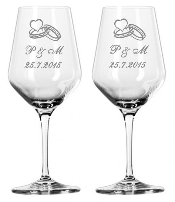 Svatební skleničky s monogramem