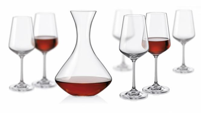 CRYSTALEX SANDRA WINE SET - 7KS