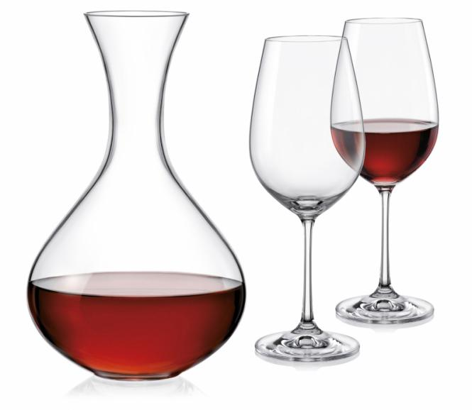 CRYSTALEX VIOLA WINE SET - 3KS